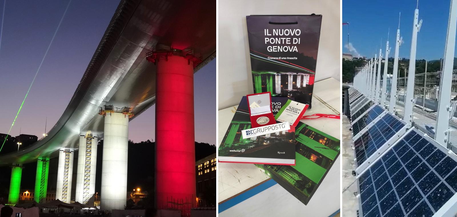 ponte morandi, genova, impianto fotovoltaico